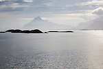 Small skerry islands near Stormolla island, Lofoten islands, Nordland, Norway