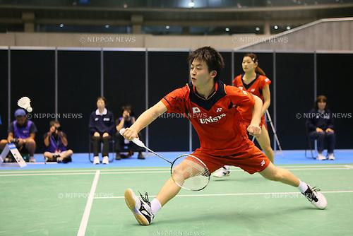 Takuto Inoue & Ayaka Takahashi (JPN), <br /> SEPTEMBER 20, 2013 - Badminton : <br /> Yonex Open Japan 2013 <br /> Mixed Doubles <br /> at Tokyo Metropolitan Gymnasium, Tokyo, Japan. <br /> (Photo by YUTAKA/AFLO SPORT) [1040]