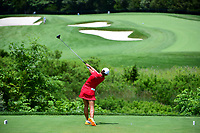 Jin Young Ko (KOR) watches her tee shot on 3 during Sunday's final round of the 72nd U.S. Women's Open Championship, at Trump National Golf Club, Bedminster, New Jersey. 7/16/2017.<br /> Picture: Golffile | Ken Murray<br /> <br /> <br /> All photo usage must carry mandatory copyright credit (&copy; Golffile | Ken Murray)