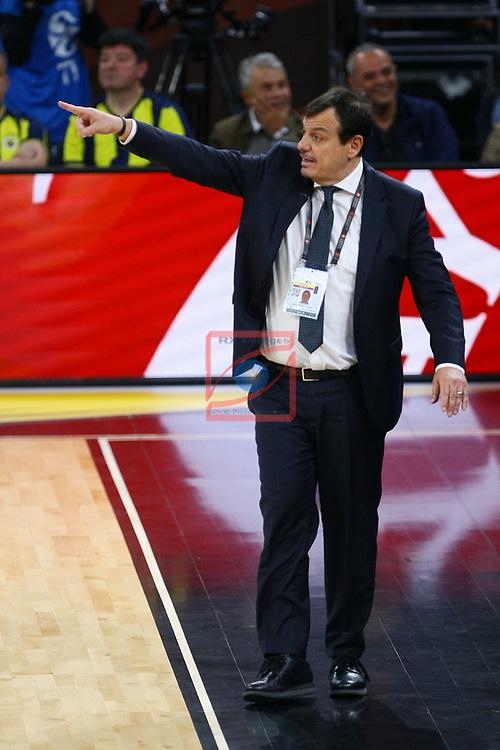 Turkish Airlines Euroleague.<br /> Final Four - Vitoria-Gasteiz 2019.<br /> Semifinals.<br /> Fenerbahce Beko Istanbul vs Anadolu Efes Istanbul: 73-92.<br /> Ergin Ataman.
