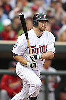 April 2, 2010: Jason Kubel of the Minnesota Twins in the first professional baseball game played at the Twins new home, Target Field. Photo by: Chris Proctor/Four Seam Images