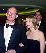 Claire Danes departs the 1999 White House Correspondents Dinner with an unidentified person at the Washington Hilton Hotel in Washington, D.C. on May 1, 1999..Credit: Ron Sachs / CNP..