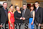 Pictured at the Hats and Heels fundraiser event on Saturday night in Ballygarry House hotel & Spa, Tralee, were l-r: Michael Ross, Carmel Ross, Samantha Sugrue Padraig Sugrue Gretta Quirke and David Quirke (all from Tralee).