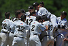 Wantagh teammates celebrate after their 4-2 win over Shoreham-Wading River in the Class A varsity baseball Long Island Championship at SUNY Old Westbury on Saturday, June 3, 2017.