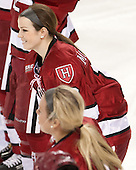 Gina McDonald (Harvard - 10) - The Boston College Eagles defeated the visiting Harvard University Crimson 3-1 in their NCAA quarterfinal matchup on Saturday, March 16, 2013, at Kelley Rink in Conte Forum in Chestnut Hill, Massachusetts.