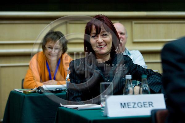 DUBLIN - IRELAND - 06 NOVEMBER 2009 -- Eurofound Forum - Global recession: Europe's way out. Erika Mezger, Deputy Director Eurofound.   PHOTO: ERIK LUNTANG / EUP-IMAGES