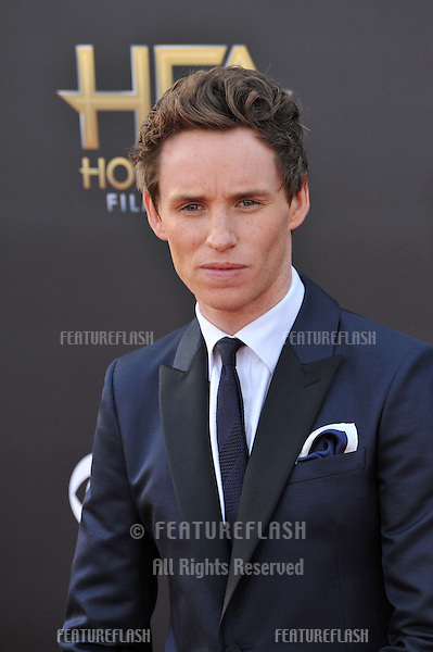 Eddie Redmayne at the 2014 Hollywood Film Awards at the Hollywood Palladium.<br /> November 14, 2014  Los Angeles, CA<br /> Picture: Paul Smith / Featureflash