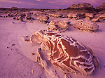 "The ""Cracked Eggs"" rock formation at sunset in Bisti Badlands, New Mexico"