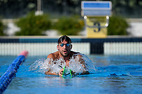 Gabriele Detti swims during a training session.  <br /> Italian athletes were able to resume training last week after more than 50 days of lockdown due to the coronavirus (covid-19) pandemic <br /> Roma 12-5-2020 Centro Federale di Ostia <br /> Photo Andrea Staccioli / Deepbluemedia / Insidefoto