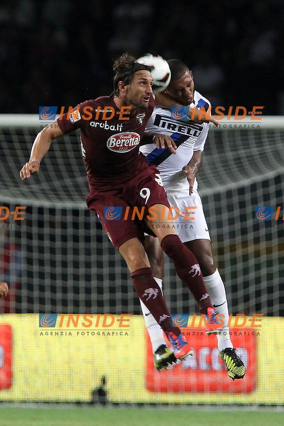 "Rolando Bianchi Torino Juan Jesus Inter.Torino 16/09/2012 Stadio ""Olimpico"".Football Calcio Serie A 2012/13.Torino v Inter.Foto Insidefoto Paolo Nucci."