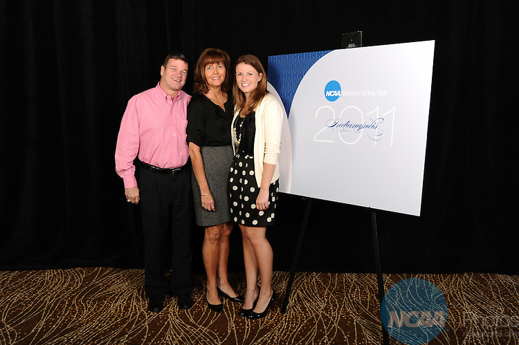 15 OCT 2011: Honorees and family members attend the welcome reception during the 2011 NCAA Woman of the year celebration held in Indianapolis, IN.  Stephen Nowland/NCAA Photos