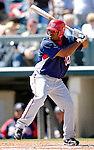 5 March 2007: Washington Nationals infielder Jose Macias in action against the Atlanta Braves at Disney's Wide World of Sports in Orlando, Florida. 2007 marks the 10th year that the Braves have been training at the Disney facility.<br /> <br /> Mandatory Photo Credit: Ed Wolfstein Photo