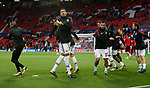 Chris Smalling of Manchester United (C) warms up before the Champions League Group A match at the Old Trafford Stadium, Manchester. Picture date: September 12th 2017. Picture credit should read: Andrew Yates/Sportimage
