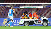 17th March 2019, Stadio San Paolo, Naples, Italy; Serie A football, Napoli versus Udinese;  David Ospina of Napoli is taken off injured