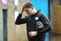 Leicester City's Harry Maguire arrives at Turf Moor ahead of kick-off<br /> <br /> Photographer Rich Linley/CameraSport<br /> <br /> The Premier League - Burnley v Leicester City - Saturday 16th March 2019 - Turf Moor - Burnley<br /> <br /> World Copyright © 2019 CameraSport. All rights reserved. 43 Linden Ave. Countesthorpe. Leicester. England. LE8 5PG - Tel: +44 (0) 116 277 4147 - admin@camerasport.com - www.camerasport.com