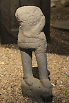 Israel, Upper Galilee, the Archaeological Museum of Hatzor at kibbutz Ayelet Hashachar, a basalt statue from the Holy of Holies of the Canaanite Temple, late bronze age