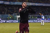 Patrick Cutrone of AC Milan celebrates after scoring a goal <br /> Genova 12-1-2019 Stadio Marassi <br /> Football Italy Cup 2018/2019 Sampdoria - Milan Foto Image Sport  / Insidefoto
