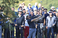 Tommy Fleetwood (ENG) in the rough on the 1st during the Pro-Am for the Sky Sports British Masters at Walton Heath Golf Club in Tadworth, Surrey, England on Tuesday 10th Oct 2018.<br />