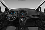 Stock photo of straight dashboard view of 2016 Ford Transit-Connect Van-XL-SWB-(Rear-Liftgate) 5 Door Mini MPV Dashboard