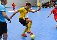 20200129 – Herentals , BELGIUM :Belgian Lucas Diniz Pinheiro pictured during a futsal indoor soccer game between Armenia and  the Belgian Futsal Devils of Belgium on the first matchday in group B of the UEFA Futsal Euro 2022 Qualifying or preliminary round , Wednesday 29 th January 2020 at the Sport Vlaanderen sports hall in Herentals , Belgium . PHOTO SPORTPIX.BE | DAVID CATRY