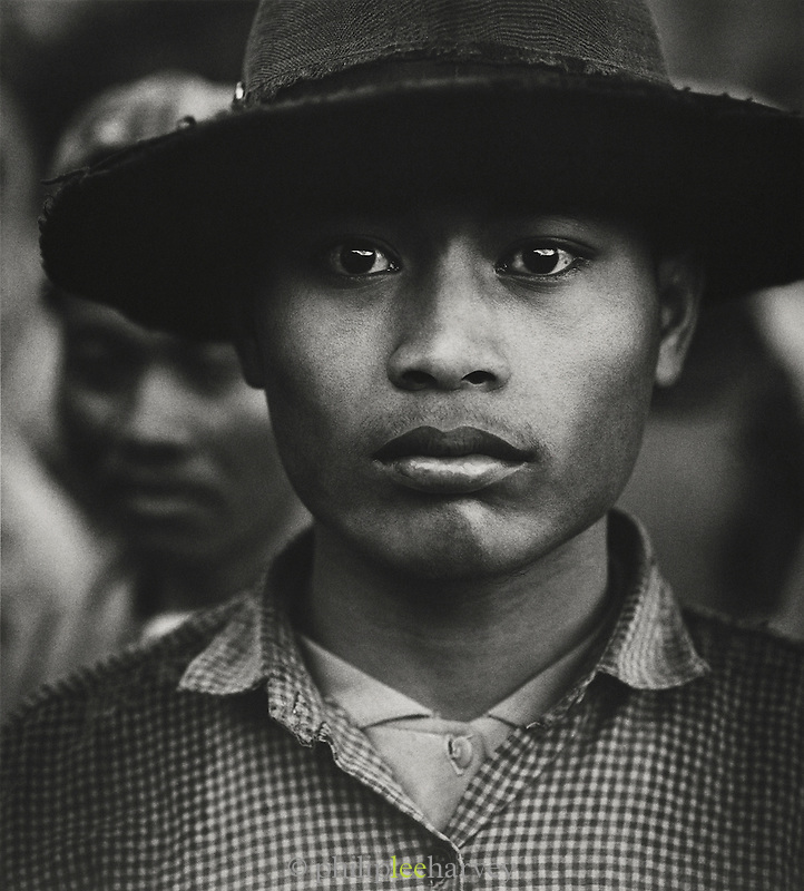 Portrait of a road worker, Java, Indonesia.