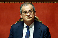 Minister of Economy Giovanni Tria<br /> Rome December 19th 2018. Senate. Speech of the Italian Premier about the results of the negotiation with the European Union about the  budget plan.<br /> Foto Samantha Zucchi Insidefoto
