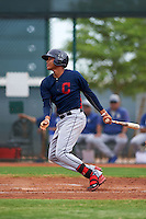 Cleveland Indians Grofi Cruz (15) during an instructional league game against the Los Angeles Dodgers on October 15, 2015 at the Goodyear Ballpark Complex in Goodyear, Arizona.  (Mike Janes/Four Seam Images)
