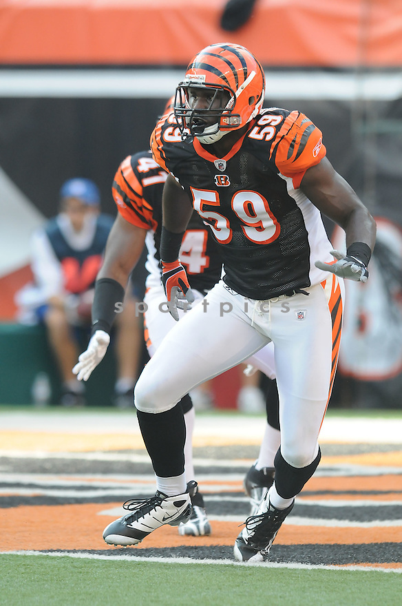 BRANDON JOHNSON, of the Cincinnati Bengals, in action during the Bengals game against the Pittsburgh Steelers on September 27, 2009 in Cincinnati, OH. The Bengals beat the Steelers 23-20 ...