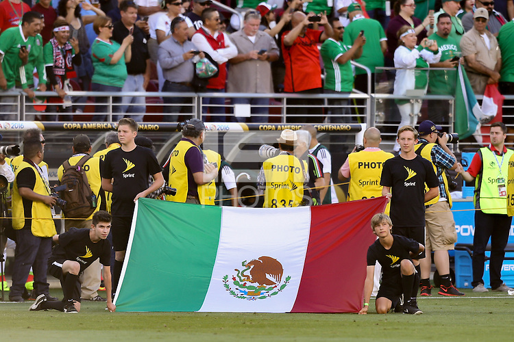 Santa Clara, CA - Saturday June 18, 2016: Mexico Flag during a Copa America Centenario quarterfinal match between Mexico (MEX) and Chile (CHI) at Levi's Stadium.