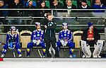 V&auml;ster&aring;s 2015-03-04 Bandy SM-Semifinal 3 V&auml;ster&aring;s SK  - Villa Lidk&ouml;ping BK :  <br /> Villa Lidk&ouml;pings tr&auml;nare Johan Sixtensson ser nedst&auml;md ut med Jesper Eriksson , Daniel Andersson , Erik Rosengren och m&aring;lvakt Jakob S&auml;leby under matchen mellan V&auml;ster&aring;s SK  och Villa Lidk&ouml;ping BK <br /> (Foto: Kenta J&ouml;nsson) Nyckelord:  Bandy SM SM-Semifinal Semifinal Slutspel Elitserien ABB Arena Syd V&auml;ster&aring;s SK VSK Villa Lidk&ouml;ping depp besviken besvikelse sorg ledsen deppig nedst&auml;md uppgiven sad disappointment disappointed dejected
