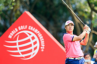 Hideki Matsuyama (JPN) on the 3rd tee during the 3rd round of the WGC HSBC Champions, Sheshan Golf Club, Shanghai, China. 02/11/2019.<br /> Picture Fran Caffrey / Golffile.ie<br /> <br /> All photo usage must carry mandatory copyright credit (© Golffile | Fran Caffrey)