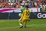 15.07.2017, Borussia Park, Moenchengladbach, GER, TELEKOM CUP 2017 Finale - SV Werder Bremen vs FC Bayern Muenchen<br /> <br /> im Bild<br /> Michael Zetterer (Werder Bremen #30) h&auml;lt Foulelfmeter und Nachschuss, <br /> <br /> Foto &copy; nordphoto / Ewert