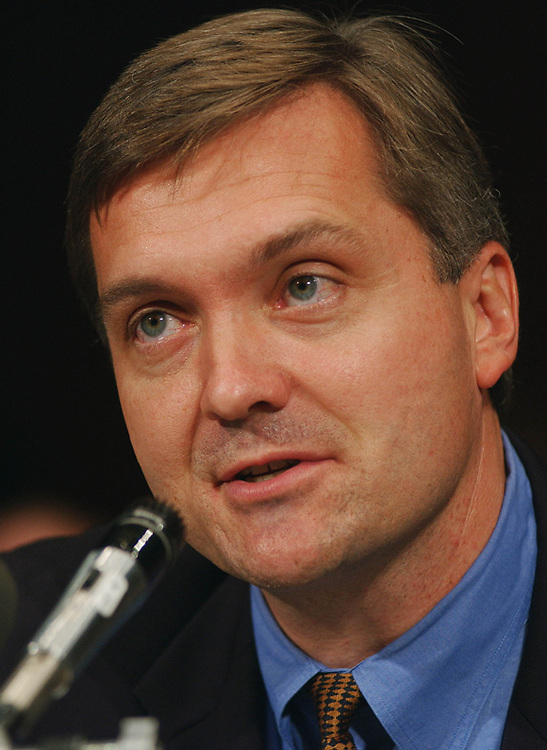 9/18/02.JUDICIAL NOMINATIONS--Rep. Jim Matheson, D-Utah, during the Senate Judiciary hearing. He was there to recommend Michael McConnell to be the U.S. Appeals Court judge for the 10th Circuit Court of Appeals..CONGRESSIONAL QUARTERLY PHOTO BY SCOTT J. FERRELL