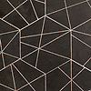 Harper, a waterjet stone mosaic, shown in honed Orpheus Black, is part of the Bright Young Things™ collection by New Ravenna.