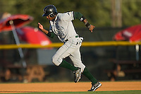 Tim Beckham (6) of the Princeton Rays takes off for second base at Burlington Athletic Park in Burlington, NC, Monday August 11, 2008. (Photo by Brian Westerholt / Four Seam Images)
