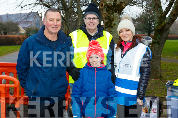 The  volunteers and committee members at the Junior Parkrun in the Tralee Town park on Sunday morning last.<br /> L-r, Pat Sheehy, Rachel Mulgrew, Tony Higgins and Sharon Condon.