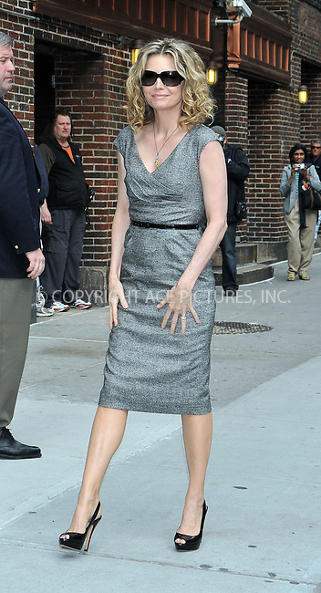 WWW.ACEPIXS.COM . . . . . ....June 16 2009, New York City....Actress Michelle Pfeiffer made an appearance at the 'Late Show With David Letterman' at the Ed Sullivan Theater on June 16, 2009 in New York City.....Please byline: AJ SOKALNER - ACEPIXS.COM.. . . . . . ..Ace Pictures, Inc:  ..tel: (212) 243 8787 or (646) 769 0430..e-mail: info@acepixs.com..web: http://www.acepixs.com
