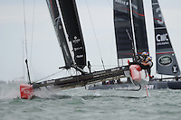 Oracle Team USA, JULY 24, 2016 - Sailing: Oracle Team USA during day two of the Louis Vuitton America's Cup World Series racing, Portsmouth, United Kingdom. (Photo by Rob Munro/Stewart Communications)