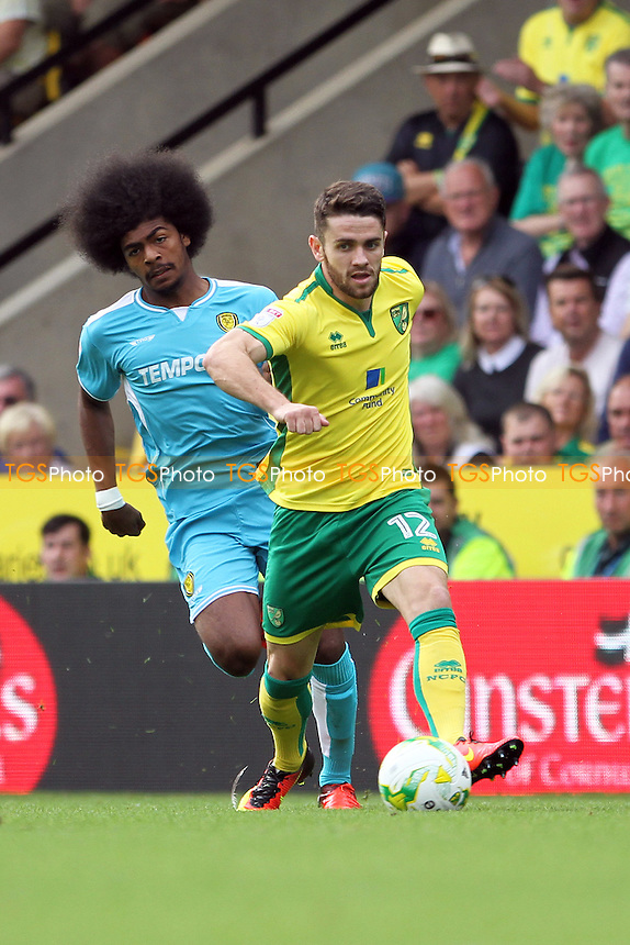 Robbie Brady of Norwich City runs with the ball during Norwich City vs Burton Albion, Sky Bet EFL Championship Football at Carrow Road on 24th September 2016