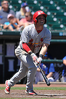 Memphis Redbirds Charlie Tilson (16) swings during the Pacific Coast League game against the Iowa Cubs at Principal Park on June 7, 2016 in Des Moines, Iowa.  Iowa won 6-5.  (Dennis Hubbard/Four Seam Images)