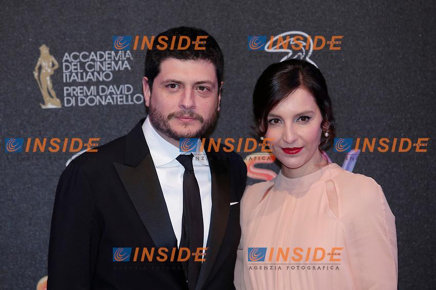 Claudio Giovannesi e Marianna Fontana<br /> Roma 27-03-2017. Premio David di Donatello 2017.<br /> Rome March 27th 2017. David di Donatello ceremony 2017. <br /> Foto Samantha Zucchi Insidefoto