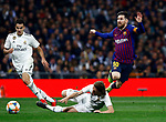 Real Madrid CF's Luka Modric and FC Barcelona's Lionel Messi during Spanish Kings Cup semifinal 2nd leg match. February 27, 2019. (ALTERPHOTOS/Manu R.B.)