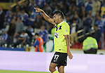 BOGOTÁ – COLOMBIA _ 13-11-2013 / En juego de ida por la gran final de la Copa Colombia, Millonarios y Atlético Nacional empataron 2 – 2 en el estadio Nemesio Camacho El Campín. / Jefferson Duque celebra el segundo tanto de Atlético Nacional.
