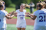Kyle Levesque (19) of the High Point Panthers during player introductions prior to the match against the Appalachian State Mountaineers at Vert Track, Soccer & Lacrosse Stadium on August 26, 2016 in High Point, North Carolina.  The Panthers defeated the Mountaineers 2-0.  (Brian Westerholt/Sports On Film)