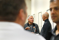 Oceanside, CA-Wednesday, June 19, 2019: US Soccer Coaches Ed Event at QLN conference center. Before the event started Hassan Nazari, center, left, chatted with Dariush Yzdani.