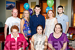 Birthday<br /> -----------<br /> Katie McCoy, Kilflynn, seated between Kathleen&amp;Helen Twomey while out celebrating her 18th birthday last Friday evening in Gally's bar, Tralee, back L-R Con Twomey, Kathrina O'Mahony, Adam O'Regan, Dorothy Twomey and David Rochford.