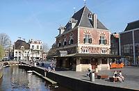 Nederland - Leeuwarden -  april 2018. De Waag in Leeuwarden. Tegenwoordig is in dit gebouw een cafe gevestigd.   Foto Berlinda van Dam / Hollandse Hoogte