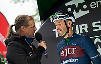 Picture by Allan McKenzie/SWpix.com - 15/05/2018 - Cycling - OVO Energy Tour Series Mens Race Round 2:Motherwell - Graham Briggs is interviewed.