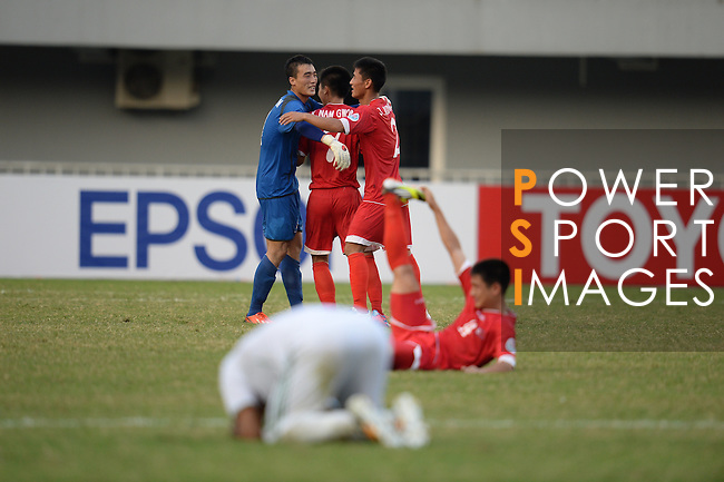 Iraq vs DPR Korea during the 2014 AFC U-19 Mens Championship Group D match on October 14 2014 at the Wunna Theikdi Stadium in Nay Pyi Taw, Myanmar. Photo by Joke/ World Sport Group