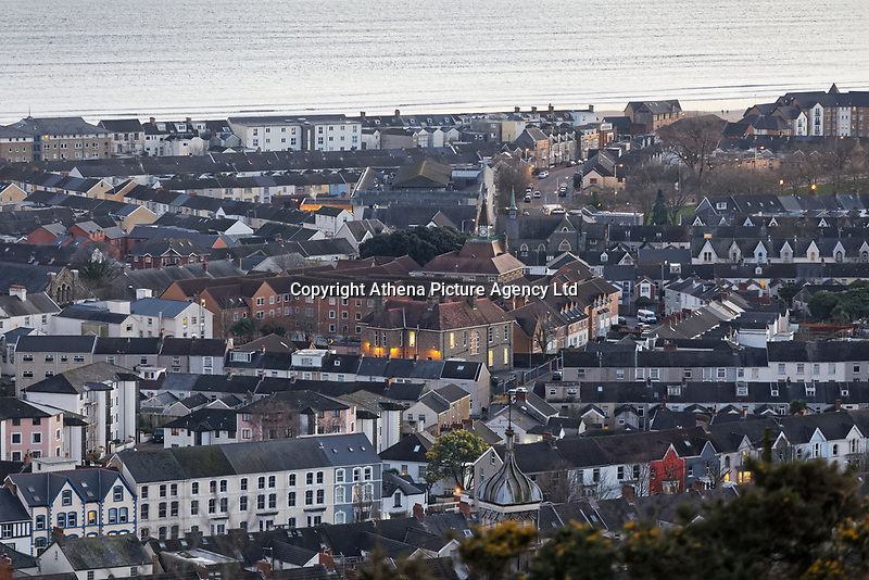 General view of Homegower House, Sandfields and Brynmill areas in Swansea, Wales, UK. Wednesday 30 January 2019